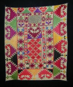FolkCostume&Embroidery: Embroidered Bridal veils of the Darvaz district, Tajikistan