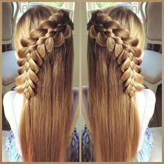 'Twinning' today with the lovely @2littlegirls_hairstyles  We chose a Five Strand Lace Braid  #2littlesweethearts  #sweetheartshairdesign #plaits #peinado #trenza #tresse #braid #braidsforlittlegirls