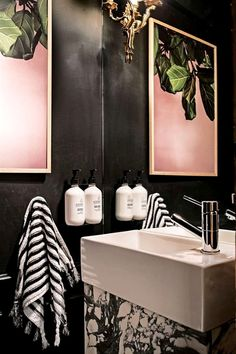 in a cloakroom where space is naturally going to be rather tight a slimline unit can make the perfect choice loving the funky decor in this room too