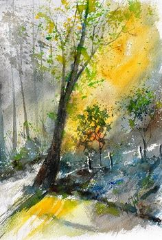 watercolor 114081, painting by artist ledent pol