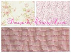 Limited Time Shabby Chic Rose Crib Bedding by DesignsbyChristyS, $200.00