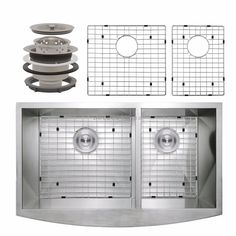 "33"" Apron Undermount 60/40 Double Bowl 16 Gauge Stainless Steel Kitchen Sink  #better4less"