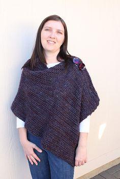 Customizable Crochet Poncho by Patti Gonsalves (this version by llamasmama3)