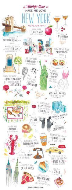 New Work: Things that make me love New York – travel illustration Like and Repin. Thx Noelito Flow. http://www.instagram.com/noelitoflow