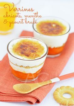 Verrines aux abricots, menthe & yaourt brulé Alter Gusto