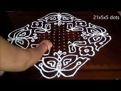 general kolam Latest Easy Rangoli With middle dots Indian Rangoli, Simple Rangoli, Big Rangoli Designs, Middle, Dots, Make It Yourself, Youtube, Stitches, The Dot