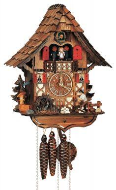 """Reloj de cuco estilo """"Chalet"""" movimiento mecánico de 1 día 35cm de Anton Schneider"""