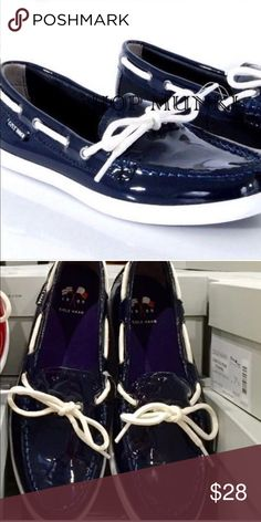 Cole Haan Patent Leather shoes New without box. True to size in navy blue. Price is firm. Cole Haan Shoes