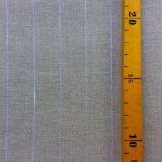 Stoff Streifen - 1,9 m Leinen natur Streifen - ein Designerstück von knopfelfe bei DaWanda