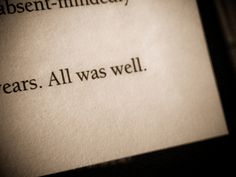 All was well by Thalita Carvalho ϟ, via Flickr