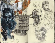 Moleskine Sketches | #art #moleskine #sketch -studying the technique of painting & sketching