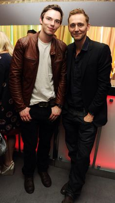 Tom Hiddleston. Via Twitter. I believe he's standing with Nicholas Hoult? (If I'm wrong do correct me...but that def looks like Hoult)