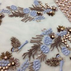 Muse Luxe | Pale Blue | Haute Couture | Tambour Beading & Embroidery