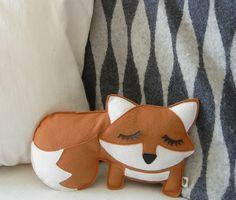 {Grayson the Fox} cute lil sleepy pillow