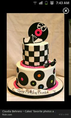 Cake idea for 50's party #cake #records #50'sparty