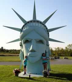 Lady Liberty at Moran Ironworks, Onaway, MI. I have never seen this before.