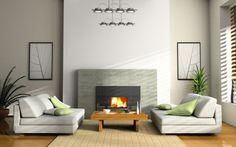 Modern Fireplace Design Ideas Inspiration for Your Home - Home Design and Home Interior Interior Walls, Interior Design Living Room, Living Room Designs, Design Room, Sofa Design, Color Interior, Interior Photo, Salon Design, Luxury Interior