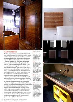 Reclaimed countertop, Moab basin and trolley unit - all Laurence Pidgeon, Grand Designs magazine September 2013 http://www.laurencepidgeon.com/