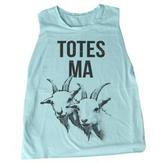 Totes Ma Goats Mint Tank: http://shop.nylonmag.com/collections/whats-new/products/totes-ma-goats-mint-tank #NYLONshop