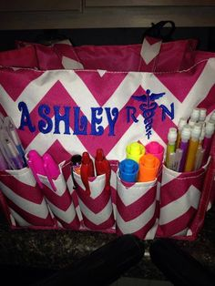 Organizer Tote Bag for Nurses, Teachers, Sunday School Teachers, Ball Park Activity Bags, Sewing, Hairstylist, Beautician, etc
