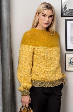 Rundstrikket bluse med let bærestykke - ALT. Knitting Projects, Knitting Patterns, Knitting Magazine, Alter, Knit Cardigan, Men Sweater, Jumper, Knit Crochet, Knitwear