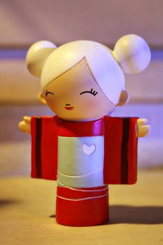 "Blanche, ""Je m'enrole pour decrocher la lune."", by Adolie Day. Momiji dolls are dolls with a message."