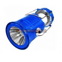 Lampa cu LED-uri, cu acumulator si panou solar - 109043