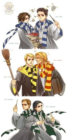 Harry Potter AU of The Avengers