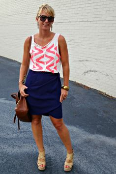 Vintage Otis & Maclain Mamie Wrap Skirt c/o the Sea and Swank Blog... Should we bring it back for Summer '13???