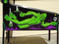 Creature From The Black Lagoon Pinball side art