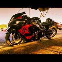 Angel Of Death 666 (Suzuki Hayabusa Custom Sport Bikes, Custom Motorcycles, Cars And Motorcycles, Suzuki Hayabusa, Suzuki Motorcycle, Sportbikes, Angel Of Death, Street Bikes, Dark Knight