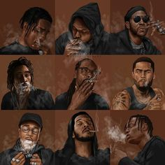Black Cartoon Characters, Black Girl Cartoon, Cartoon Art, Black Love Art, Black Girl Art, Art Girl, Tupac Pictures, Rapper Art, Grunge Art