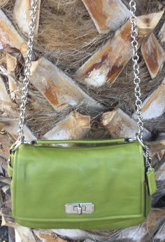 Coach Chelsea Flap Convertible Bag Purse Soft Green Leather Spring/Summer Carry! in Clothing, Shoes & Accessories, Women's Handbags & Bags, Handbags & Purses | eBay