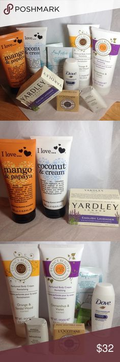 🆕 BEAUTY BUNDLE 10 High End Items-pix for info💥 I have 10 beauty items for sale in this listing. They are all brand-new,never opened,ready to be shipped next day. Please check out the photos for all the information on each product. There are 2 I love… Shower smoothie, 2 Ennce revitalization perfumed body cream, 1 yardley English lavender bar soap. The forementioned work are all full-size products. The rest are travel size.1 L'Occitane made in France 1.7 oz. milk soap, 1 Dove DEEP MOISTURE…