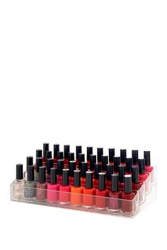 Nail Polish Organizer on HauteLook Fits about 40 polishes!! only $11 bucks! Under Live Smart: simplehuman & Acrylic Organizers HOME section!!!!