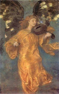 "Angel Espionage: Файл:Teodor Axentowicz Zloty aniol - Teodor Axentowicz - ""Golden Angel"" 1900"