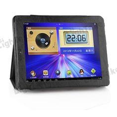 PU Leather Case for ONDA V972 Quad Core Tablet PC Black