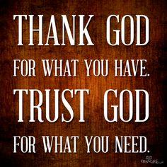 Thank God...