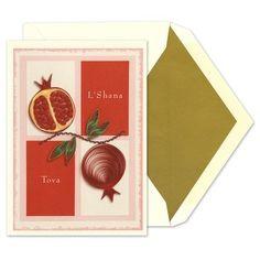 Quilled Pomegranates Cards - Indelible Ink (finestationery.com)