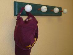 Vintage Golf Ball Coat Rack by TheFletcherStudios on Etsy, $26.99