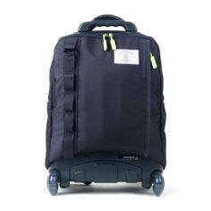 wheelpak Cruze Rolling Wheeled Backpack Travel Bag Kids School Bookbag/ Navy