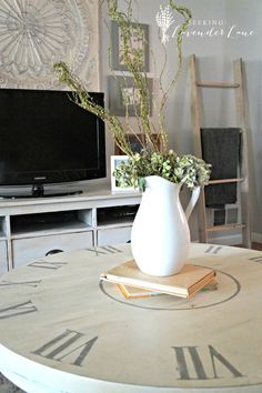 Clock Coffee Table Makeover