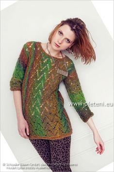 Příčně pletený pulovr Murano Lace | PLETENÍ – NÁVODY
