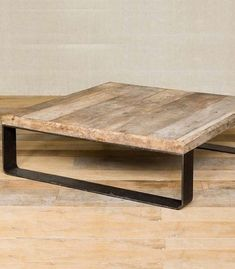 Discover thousands of images about reclaimed wood, coffee table Steel Furniture, Furniture Legs, Wooden Furniture, Custom Furniture, Table Furniture, Furniture Making, Furniture Design, Industrial Style Furniture, Industrial Table