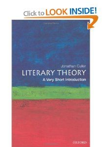 Literary Theory: A Very Short Introduction: Jonathan Culler: Amazon.com: Books