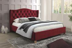 Posteľ ASPENA 160 patrí medzi čalúnené postele. Je vyrobená vo výraznom farebnom prevedení, vďaka čomu sa stane dominantným nábytkom v miestnosti. Súčasťou postele sú 2 lamelové rošty. #byvanie #domov #nabytok #postele #calunenepostele #calunenynabytok #modernynabytok #designfurniture #furniture #nabytokabyvanie #nabytokshop #nabytokainterier #byvaniesnov #byvajsnami #domovvashozivota #dizajn #interier #inspiracia #living #design #interiordesign #inšpirácia Velvet Bed, Upholstered Beds, Burgundy Color, How To Make Bed, Bed Frame, Mattress, Elegant, Bedroom, Luxury