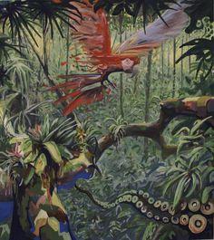 parrot by David Tomasek | Artfinder #Parrot #Jungle #Wilderness