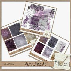 Color Play 18 - Vintage Bundle by t for me designs