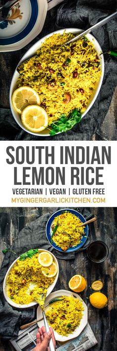 South Indian Lemon Rice is a sweet-smelling rice dish; very handy to prepare and can be cooked in no time. This is a great recipe for those who love lemon. Lemon rice is an admirable consolidation of lemon and turmeric flavor, and adding peanuts to this r Rice Recipes, Veggie Recipes, Indian Food Recipes, Asian Recipes, Vegetarian Recipes, Cooking Recipes, Healthy Recipes, Vegan Vegetarian, Healthy Rice