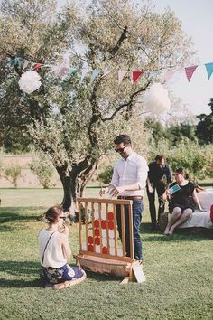 The rural wedding of N & T - Vaucluse - Provence-Alpes-Côte d'Azur region . - - The rural wedding of N & T Engagement Party Games, Wedding Games, Diy Wedding, Wedding Reception, Dream Wedding, Wedding Backyard, Wedding Ideas, Tulle Wedding, Reception Ideas